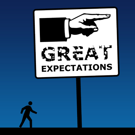 great expectations illustration Фото со стока