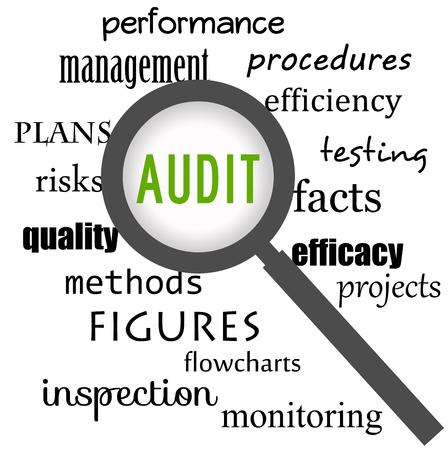 audit topics illustration Stok Fotoğraf