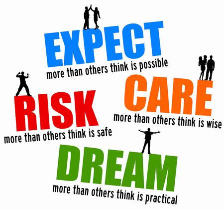 expect risk dream illustration
