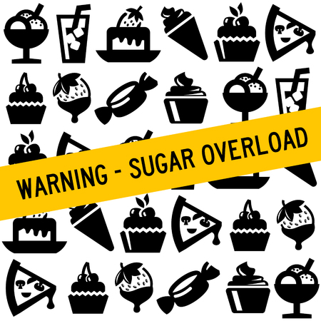 sugar overload illustration