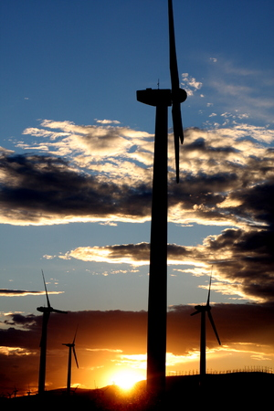 wind power generator silhouette