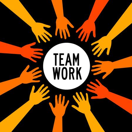 teamwork hands illustration Stok Fotoğraf