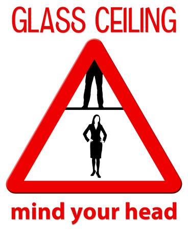 glass ceiling illustration