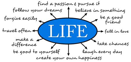 life happiness illustration