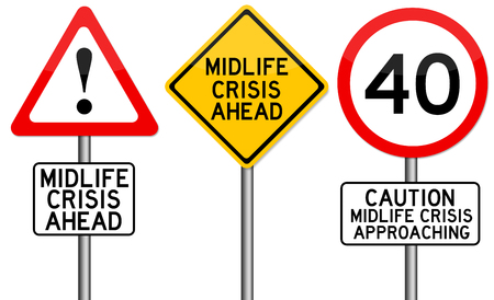 midlife crisis illustration