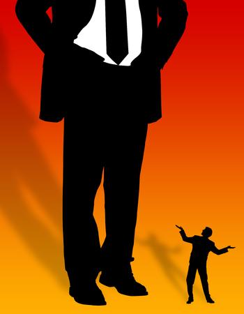 employee boss relationship illustration