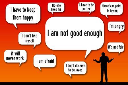 negative thoughts illustration