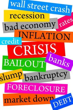 Financial crisis illustration 写真素材