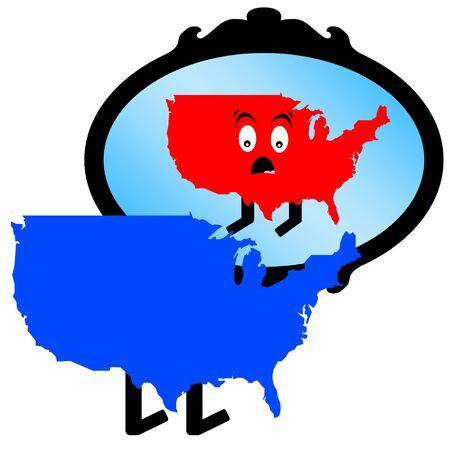 liberal conservative america  illustration