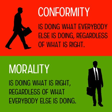 Conformity and morality illustration