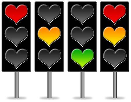 Heart lights illustration Stock fotó