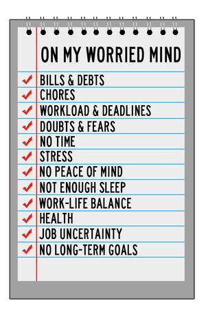 Worried mind illustration