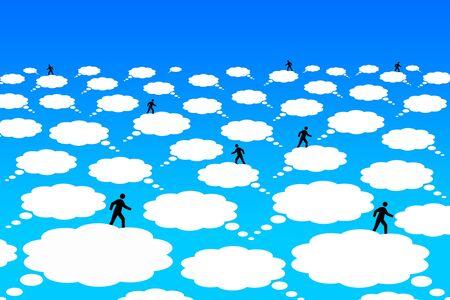 Cloud communication illustration