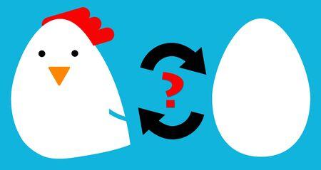Chicken or egg illustration