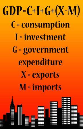 Economy process illustration