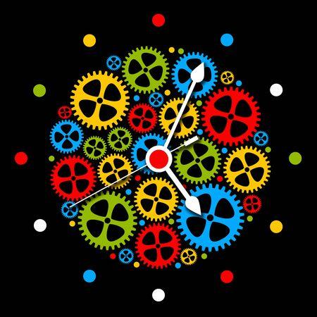 clock work illustration