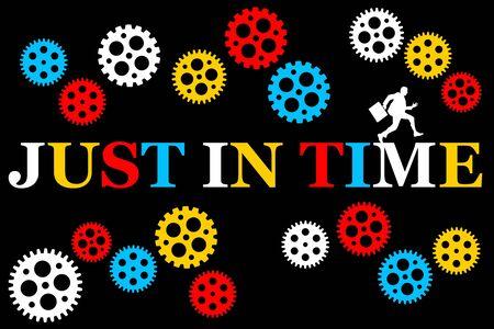 Just in time illustration Stock fotó