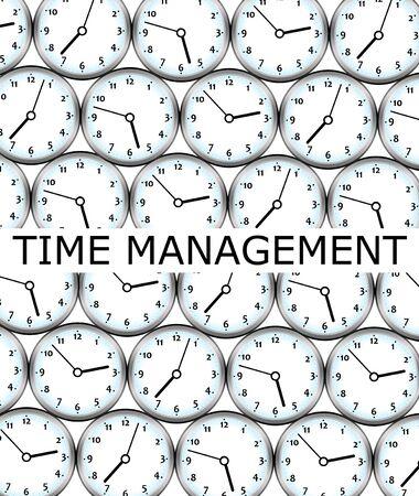 time management clocks illustration