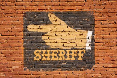 Sheriff Reklamní fotografie