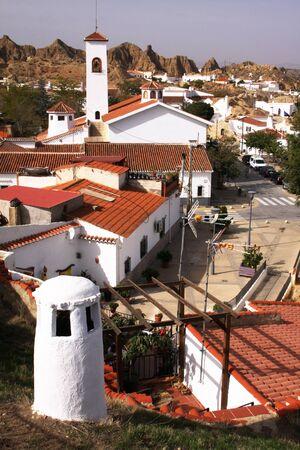 chimney town Spain Stock fotó