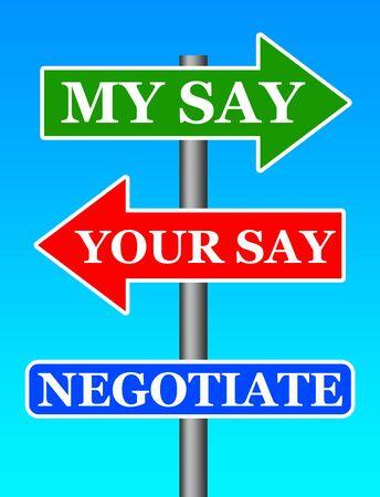 Negotiation illustration