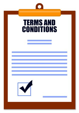 Terms and conditions illustration