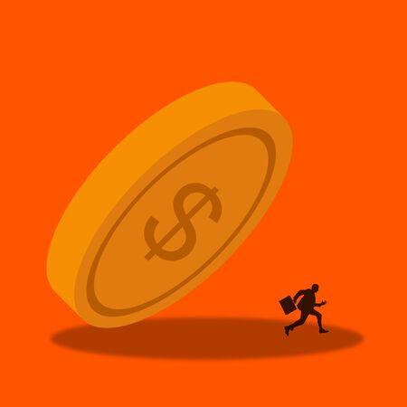 Economy crisis illustration Banco de Imagens