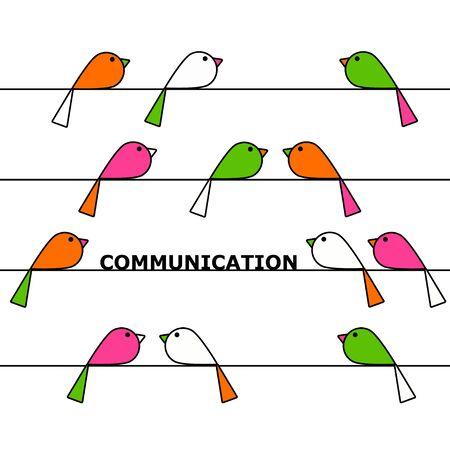 birds communication illustration