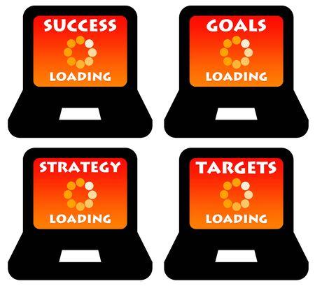 Business loading illustration