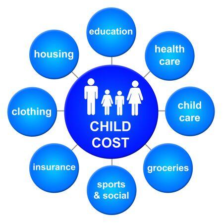 Child cost illustration 版權商用圖片 - 132409020