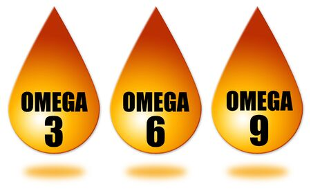 Omega fatty acids illustration