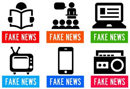 fake news  channels illustration