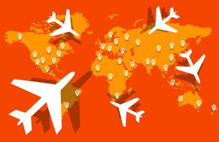 airplane travel destination 写真素材