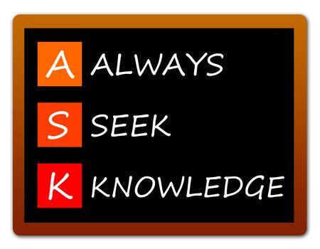 Seek knowledge illustration 版權商用圖片