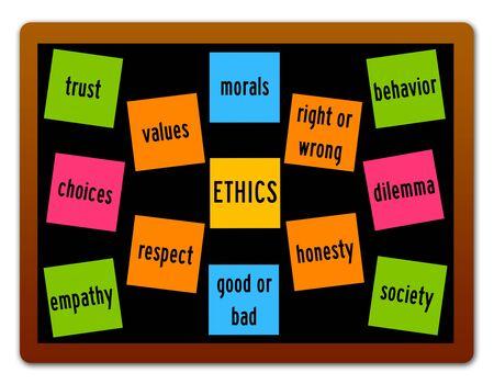 Ethics illustration 版權商用圖片 - 132409030