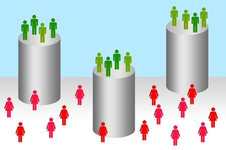 society inequality illustration
