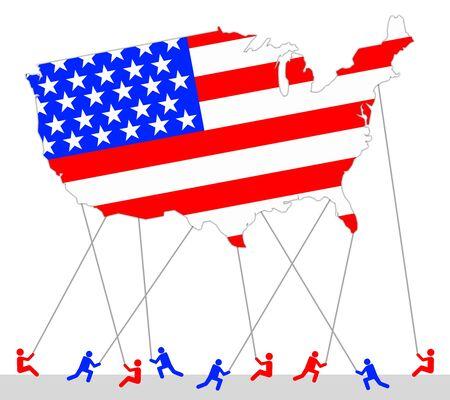 America balloon illustration 版權商用圖片