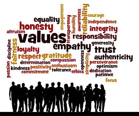 People values illustration Zdjęcie Seryjne