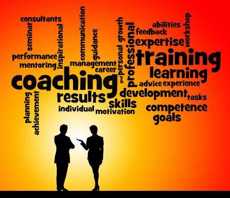 coaching training illustration 版權商用圖片