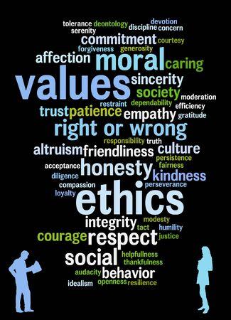 responsible values illustration Zdjęcie Seryjne