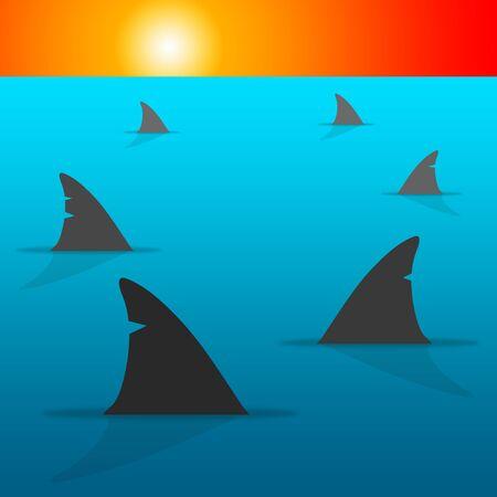Shark sea illustration