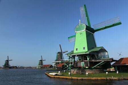 historic dutch windmills