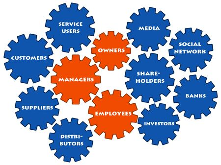 Stakeholders illustration Banque d'images