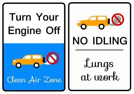 Car exhaust illustration 版權商用圖片