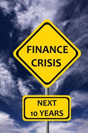 Finance crisis illustration 版權商用圖片
