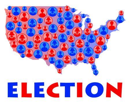 USA election illustration 版權商用圖片