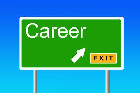 career exit illustration