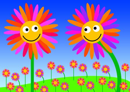flower love illustration 版權商用圖片 - 132409090