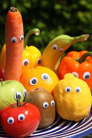 funny fruit family 版權商用圖片
