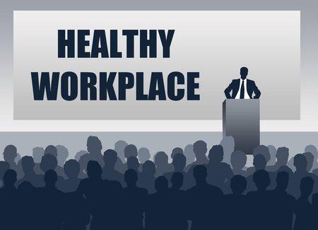 healthy workplace presentation illustration